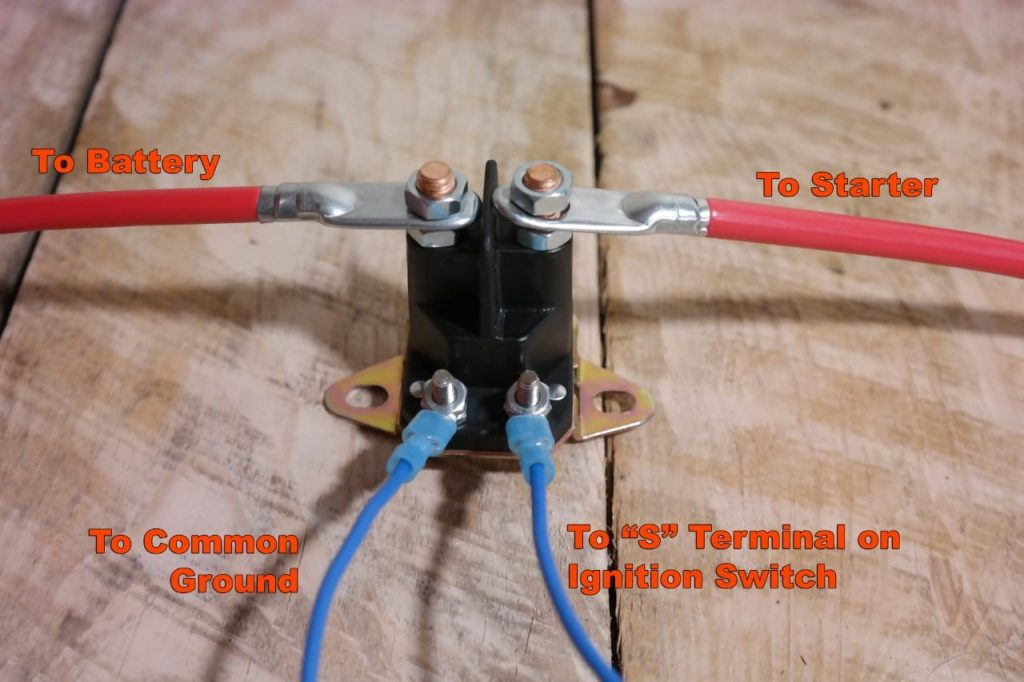Wiring Starter Relay